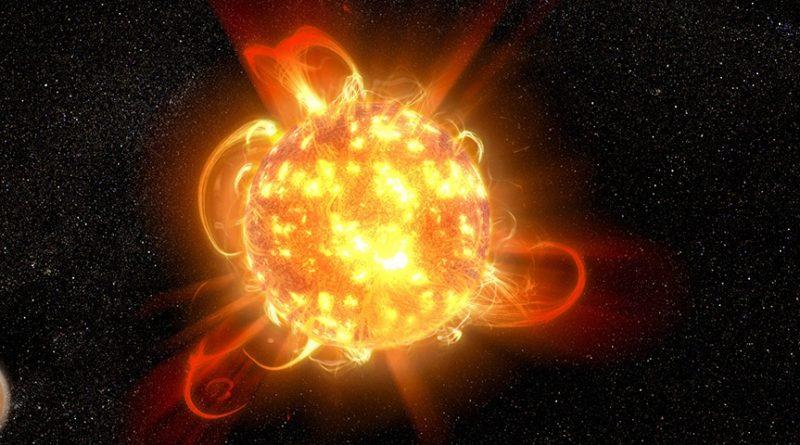 Una estrella con fulguraciones millones de veces más intensas que las del Sol