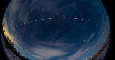 El paso de la ISS captado desde Alberta, Canadá