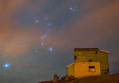 La constelación de Orión fotografiada desde Eigersund, Noruega
