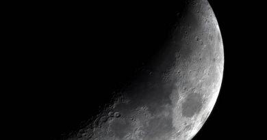Imagen de la Luna tomada desde Washington, Estados Unidos