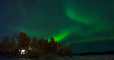 Auroras boreales fotografiadas desde Inari, Finlandia