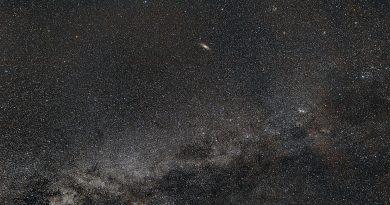Imagen de la Vía Láctea y la Galaxia de Andrómeda