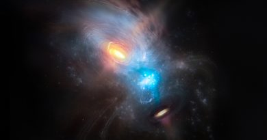 La vida turbulenta de dos agujeros negros supermasivos en ruta de colisión