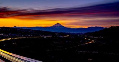 Imagen del amanecer y el Monte Fuji tomada el 16 de enero de 2020
