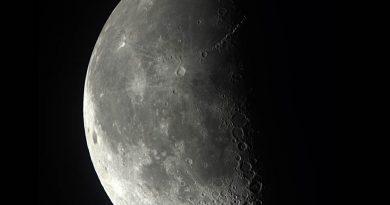 La Luna fotografiada desde Washington, Estados Unidos