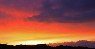 Fotos del amanecer tomadas desde Arenys de Munt, Barcelona
