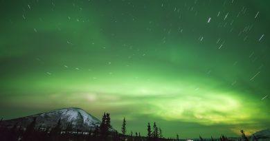 Auroras boreales fotografiadas desde Donnelly Dome, Alaska