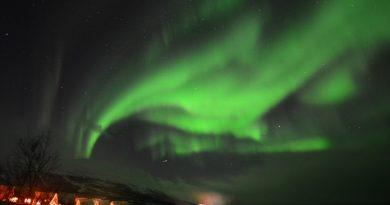Auroras boreales fotografiadas desde Abisko, Suecia (21-enero)