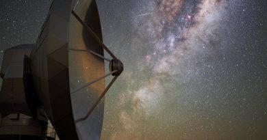 La Vía Láctea fotografiada desde el Observatorio La Silla (Chile)