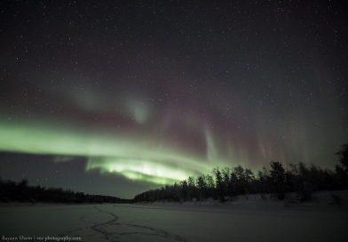Auroras boreales fotografiadas desde la Laponia finlandesa