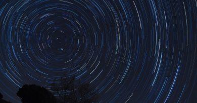 Imágenes del Sol y rastro de estrellas tomadas desde Arenys de Munt, Barcelona